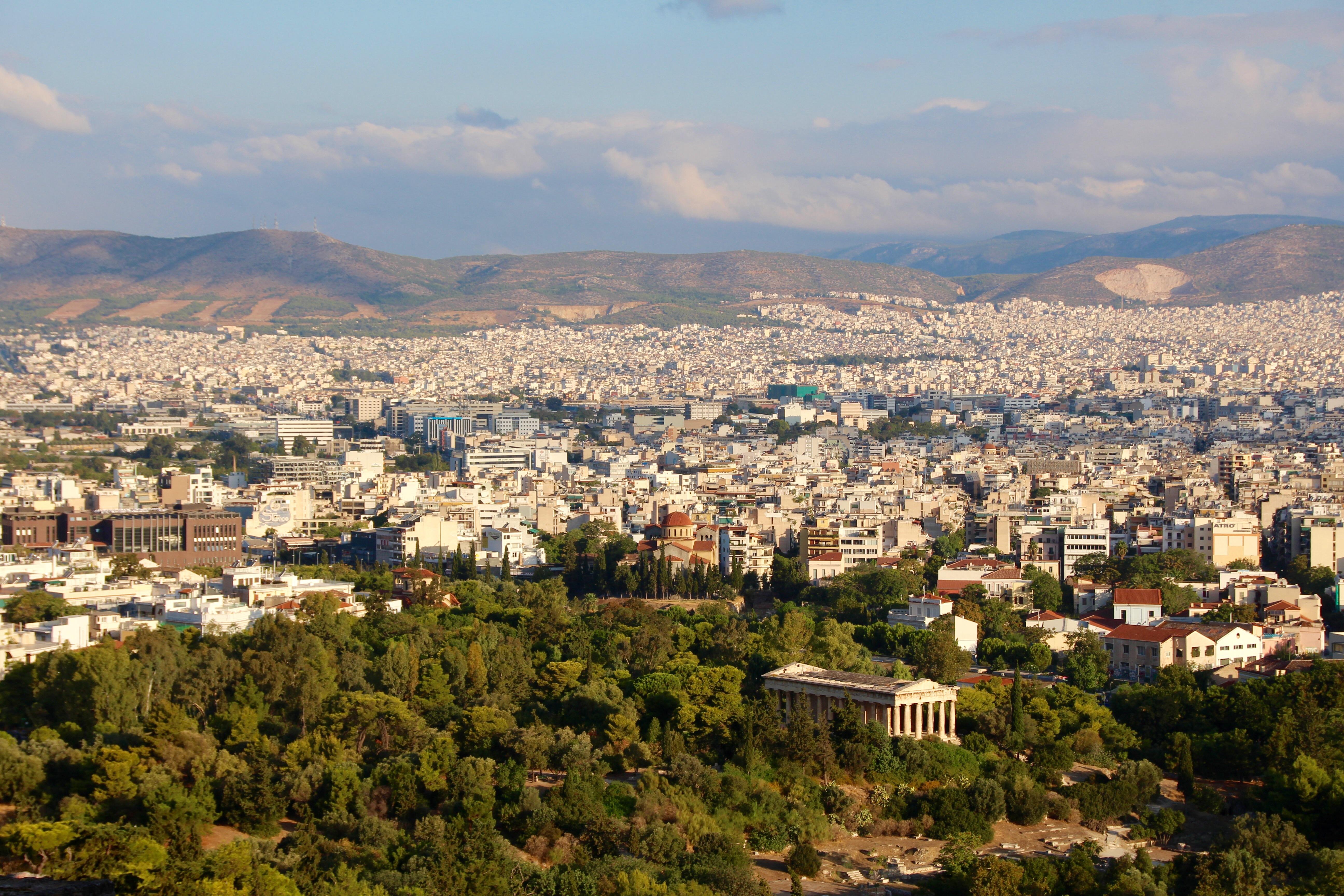 Vue depuis l'Acropole d'Athènes