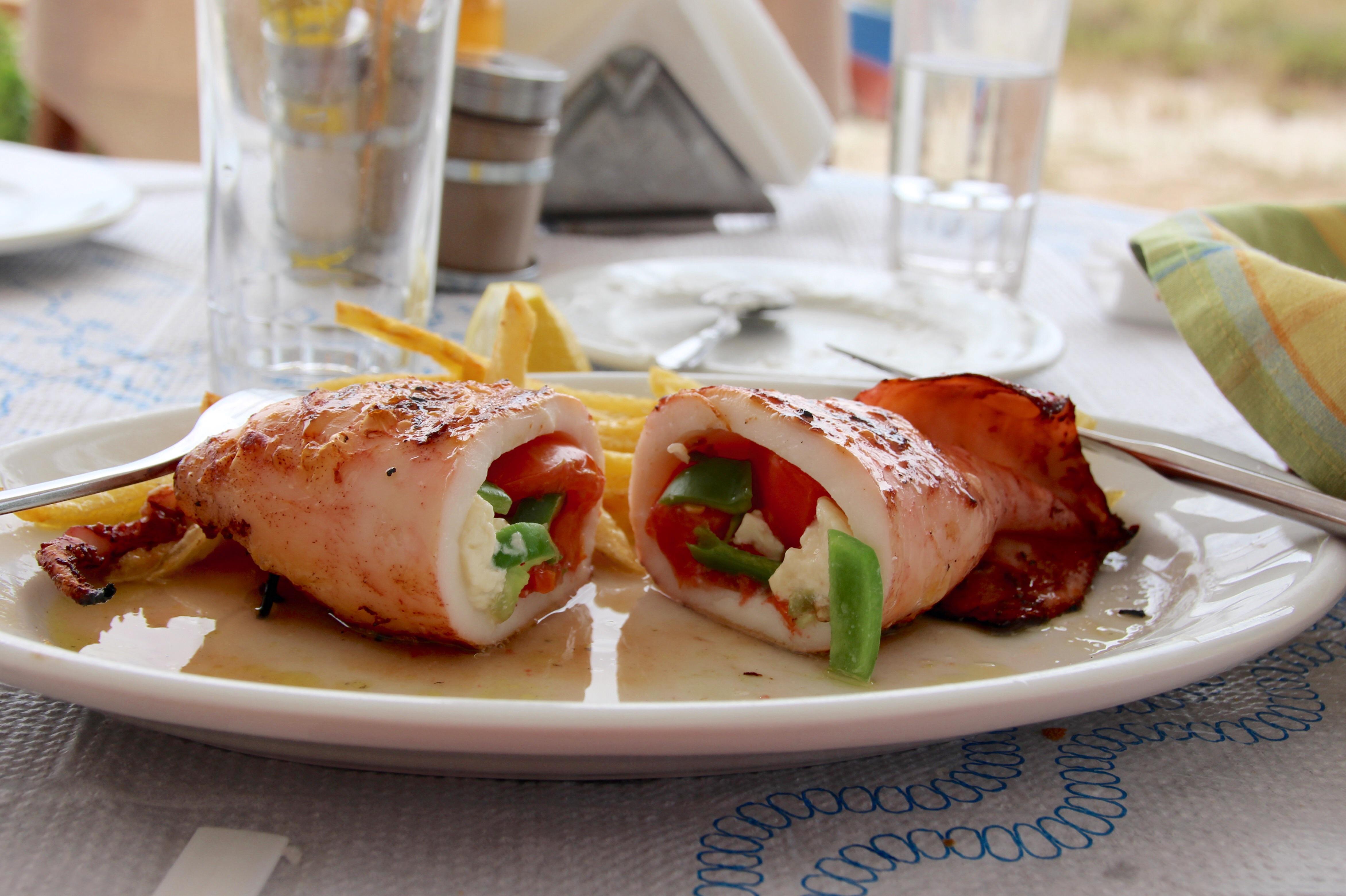 Calamars farcis à l'Antonis Restaurant