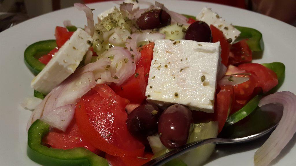 Salade Grecque à Ios en Grèce