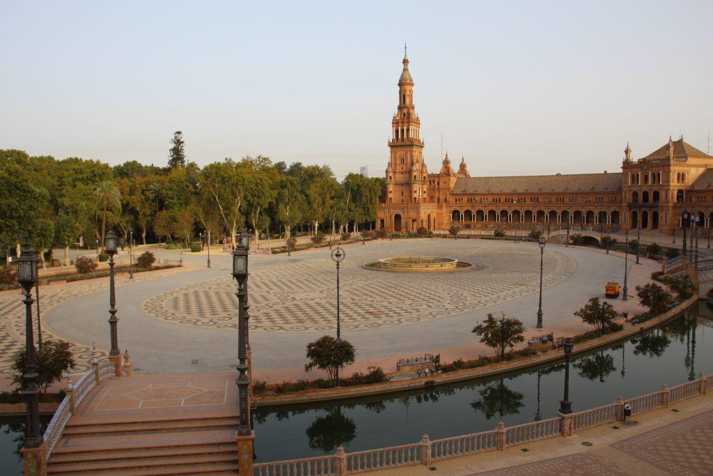 Plaza de Espana au lever du jour